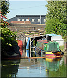 SO9199 : Private canal wharf by Wolverhampton Top Lock by Roger  Kidd