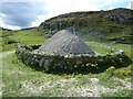 NB1340 : Reconstructed Iron Age House, Bostadh - from North by Rob Farrow