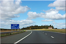 SE3772 : Leaving the A1(M) at junction 49 by Robin Webster
