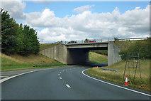 SE3672 : Bridge at A1(M) junction 49 by Robin Webster