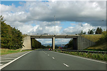 SE3773 : A168 bridge over A168 route by Robin Webster