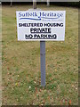 TM2737 : Suffolk Heritage Housing Association sign by Adrian Cable