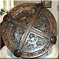 SU1790 : Font (5) St Leonard's Church, Stanton Fitzwarren by Brian Robert Marshall