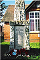 SP4476 : Obelisk war memorial, School Street, Church Lawford by Jean Nicholson