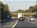 SK6199 : Northbound M18, Warren Lane Bridge by David Dixon