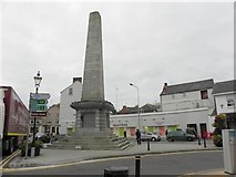 H6733 : Obelisk, Monaghan Town by Kenneth  Allen