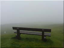 HU4007 : Sumburgh: a bench with(out) a view by Chris Downer