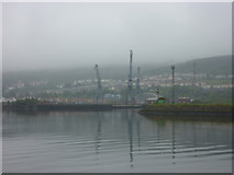 NS3075 : Doon The Watter - 25th June 2011 : Port Glasgow - View Across Entrance to Great Harbour by Richard West