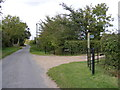 TM3173 : Heveningham Road & the footpath to Cratfield Road by Adrian Cable