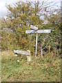 TM3173 : Roadsign on Heveningham Road by Adrian Cable