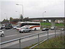 SJ9195 : Footbridge over the M60 at J24 by M J Richardson
