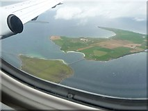 ND4798 : Churchill Barrier No.3  and Burray from the air by Rob Farrow