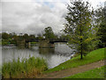 SD9204 : Lake and Bridge, Alexandra Park by David Dixon