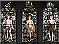 TQ5993 : St Thomas of Canterbury, Brentwood - Stained glass window by John Salmon