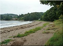 NX6548 : Almost high tide at Nun Mill Bay by Ann Cook