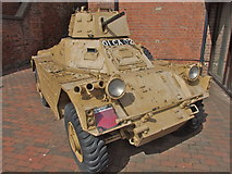 SO8218 : Armoured Car parked in Gloucester Docks by Chris Whippet