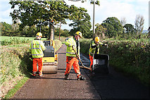 ST0106 : Cullompton: road maintenance by Martin Bodman