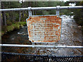 NH9207 : Plaque on the Cairngorm Club footbridge, Rothiemurchus by Phil Champion