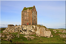 NT6334 : Smailholm Tower with a new roof covering by Walter Baxter