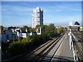 TQ2976 : View from the footbridge at Wandsworth Road station by Marathon