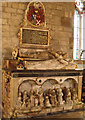 TA1311 : Memorial Tomb of Sir William Pelham and wife Anne. Brocklesby Church by J.Hannan-Briggs