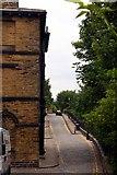 SE1338 : Albert Terrace by the railway by Steve Daniels