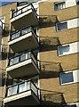 TQ2575 : Balconies, Riverside West by Derek Harper