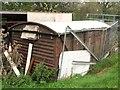 NY5455 : Old railway goods van near Castle Carrock by Mike Quinn