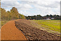 SU4722 : New bund and path beside Kiln Lane by Peter Facey