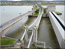 SH7877 : The three bridges as seen from the castle, Conwy by Meirion