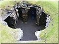 HU3909 : Jarlshof - Iron Age wheelhouse, looking down by Rob Farrow