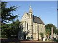 TQ4277 : Charlton Cemetery chapel by Malc McDonald