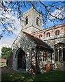 TL9979 : All Saints, Hopton - Porch by John Salmon