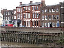 TF4509 : Wisbech - River Nene and White Lion Hotel by Dave Bevis