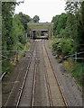 SJ5680 : Railway line at Preston Brook, Cheshire by Roger  Kidd