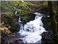 NN5321 : The falls on Kirkton Burn by Ian S