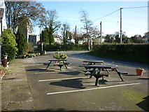 SD4983 : The beer garden at the Blue Bell Hotel, Heversham by Ian S