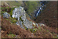 NY4811 : Waterfalls at Low Loup from the Old Corpse Road by Ian Greig