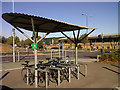 TQ4078 : Cycle rack at Sainsbury's by Stephen Craven