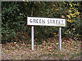 TM1877 : Green Street sign by Adrian Cable