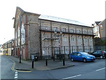 SS9992 : Side view of the former town hall, Tonypandy by Jaggery