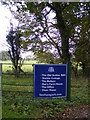 TM4477 : Sign at the entrance to Henham Park by Adrian Cable