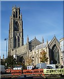 TF3244 : St Botolph's across the Market Place by Rob Farrow