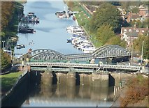 TF3244 : View from St Botolph's - Two bridges over the Witham by Rob Farrow