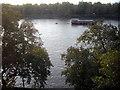 TQ2877 : River Thames looking toward Battersea Park by PAUL FARMER