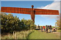 NZ2657 : Angel of the North and worshippers by Trevor Harris