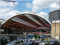 TQ2878 : Train shed, Victoria station by Stephen Richards