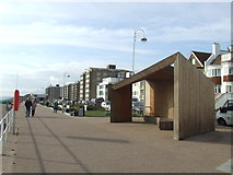 TQ7306 : Shelter on Bexhill seafront by Malc McDonald