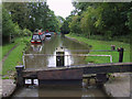 SJ5778 : Trent and Mersey Canal at Dutton Lock, Cheshire by Roger  Kidd
