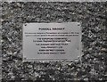 NY7807 : Podgill Viaduct plaque by Ian Taylor